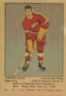 1951-52 Parkhurst Hockey Gordie Howe RC