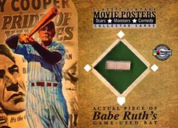 2009 Breygent Classic Movie Posters VR1 Babe Ruth GU Bat 260x187 Image