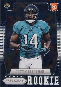 2012 Panini Prizm Football 217 Justin Blackmon RC 209x300 Image