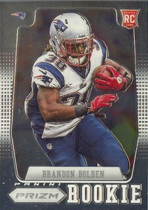 2012 Panini Prizm Football 240 Brandon Bolden RC 212x300 Image