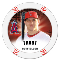 2013 Topps MLB Chipz Mike Trout Image