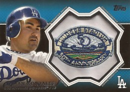2013 Topps Series 1 Baseball Commemorative Patch CP 10 Adrian Gonzalez 260x184 Image