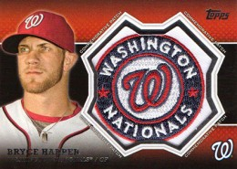 2013 Topps Series 1 Baseball Commemorative Patch CP 15 Bryce Harper 260x185 Image