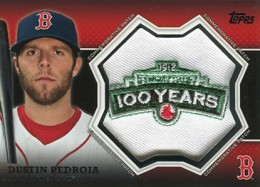 2013 Topps Series 1 Baseball Commemorative Patch CP 2 Dustin Pedroia 260x187 Image