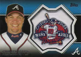 2013 Topps Series 1 Baseball Commemorative Patch CP 20 Chipper Jones 260x184 Image