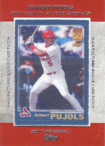 2013 Topps Series 1 Baseball Rookie Patch RCP 22 Albert Pujols 216x300 Image