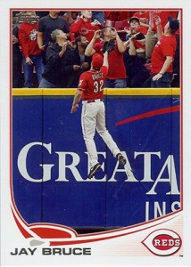 2013 Topps Series 1 Baseball Out of Bounds Variation Short Prints 450 Jay Bruce