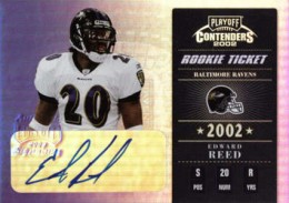 2002 Playoff Contenders Rookie Ticket Autographs Ed Reed 260x183 Image