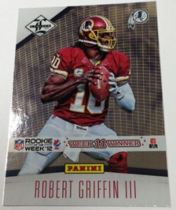 2012 Panini Contenders Pepsi Max Rookie of the Week Robert Griffin III Limited 252x300 Image