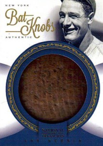 2012 Panini National Treasures Baseball Lou Gehrig Bat Knob