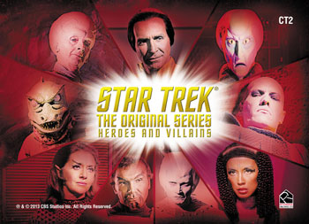 2013 Star Trek TOS Heroes and Villains Case Topper Villains Image