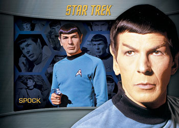 2013 Star Trek TOS Heroes and Villains Shadowbox Spock Image