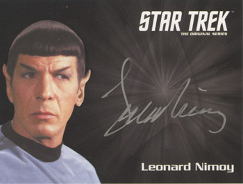2013 Star Trek TOS Heroes and Villains Silver Signature Spock Image