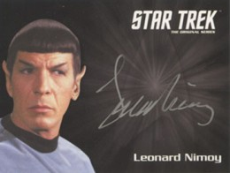2013 Star Trek TOS Heroes and Villains Silver Signature Spock