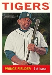 2013 Topps Heritage Baseball Chrome Parallel Card Image