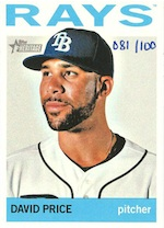 2013 Topps Heritage Baseball Mini Base Parallel Card Image