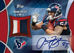 2013 Topps Football Autographed Patch Arian Foster Image