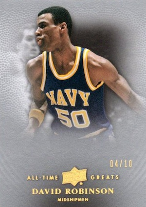 2012 13 Upper Deck All Time Greats Basketball Base Gold Spectrum Parallel Card Image