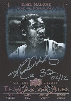 2012 13 Upper Deck All Time Greats Basketball Team for the Ages Autograph Card Image