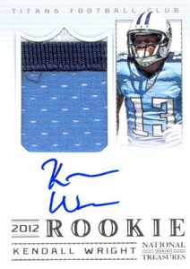 2012 Panini National Treasures Football Rookie Signature Materials 309 Kendall Wright 212x300 Image