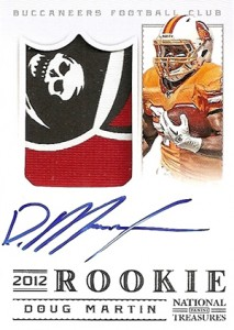 2012 Panini National Treasures Football Rookie Signature Materials 311 Doug Martin 213x300 Image