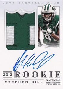 2012 Panini National Treasures Football Rookie Signature Materials 315 Stephen Hill 213x300 Image