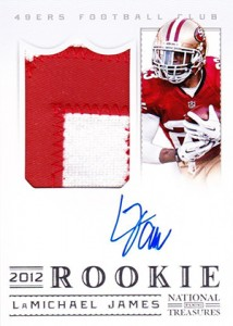 2012 Panini National Treasures Football Rookie Signature Materials 319 LaMichael James 214x300 Image