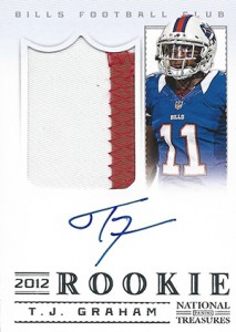 2012 Panini National Treasures Football Rookie Signature Materials 331 TJ Graham 213x300 Image