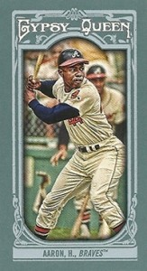 2013 Topps Gypsy Queen Mini Variations Hank Aaron 163x300 Image