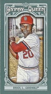 2013 Topps Gypsy Queen Mini Variations Lou Brock 165x300 Image