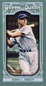 2013 Topps Gypsy Queen Mini Variations Lou Gehrig 162x300 Image