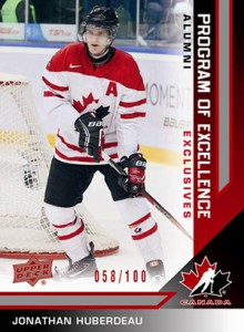 2013 Upper Deck Team Canada Hockey Program of Excellence Alumni Red Jonathan Huberdeau 220x300 Image