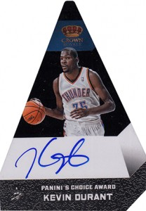 2012 13 Panini Preferred Paninis Choice Black Autograph Kevin Durant 208x300 Image