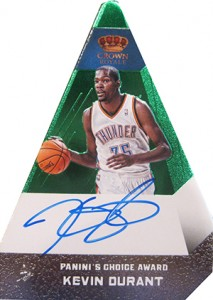 2012 13 Panini Preferred Paninis Choice Green Autograph Kevin Durant 213x300 Image