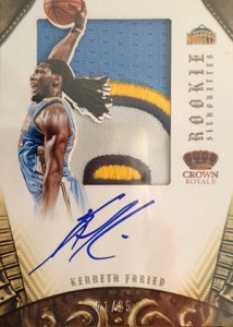 2012 13 Panini Preferred Rookie Silhouettes Prime Kenneth Faried 214x300 Image