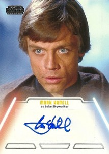 2013 Topps Star Wars Jedi Legacy Autograph Mark Hamill as Luke Skywalker
