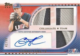 2010 Topps USA Baseball Triple Patch Autograph Gerrit Cole 50 260x183 Image