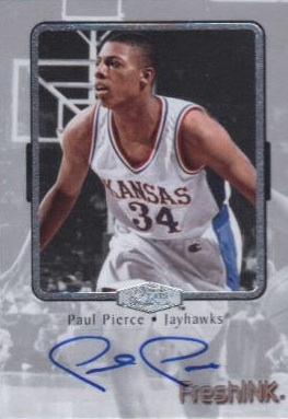 2012 13 Fleer Retro Basketball Flair Shocase Fresh Ink Autograph Paul Pierce Image