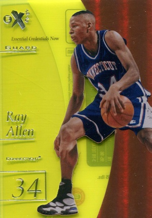 2012 13 Fleer Retro Essential Credentials Now Ray Allen Image