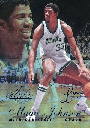 2012 13 Fleer Retro Flair Legacy Row 1 Magic Johnson Image