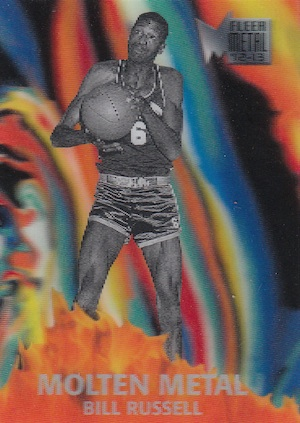 2012 13 Fleer Retro Molten Metal Bill Russell Image