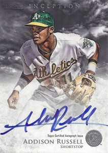 2013 Bowman Inception Prospect Autographs Addison Russell 212x300 Image