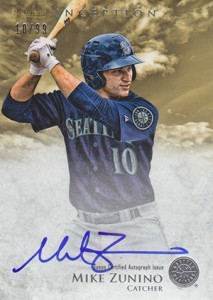 2013 Bowman Inception Prospect Autographs Mike Zunino Gold 213x300 Image