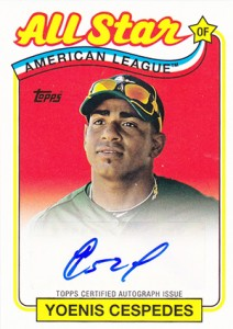 2013 Topps Archives Retail Chase Autographs Yoenis Cespedes 212x300 Image
