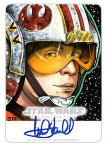 2013 Topps Star Wars Illustrated Autographed Sketch Card Mark Hamill 217x300 Image