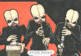 2013 Topps Star Wars Illustrated Sketch Card 260x179 Image