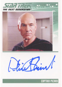 Star Trek TNG Heroes and Villains Patrick Stewart Autograph Image
