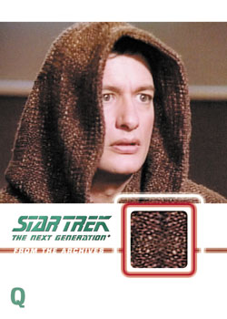 Star Trek TNG Heroes and Villains Relic Card Q Image