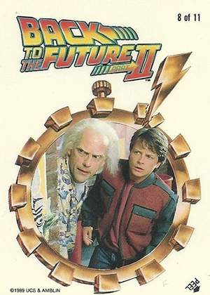 1989 Topps Back to the Future II Sticker Image