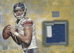 2013 Inception Football Rookie Patches Yellow Parallel Ryan Nassib 260x185 Image